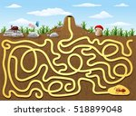 help red ant to find way out... | Shutterstock .eps vector #518899048