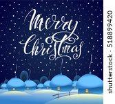 merry christmas. christmas... | Shutterstock .eps vector #518899420