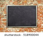 Single Blank Blackboard Poster...