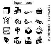 sugar icon set | Shutterstock .eps vector #518902588