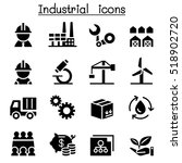 basic industrial icon set | Shutterstock .eps vector #518902720