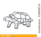 turtle icon. editable outline... | Shutterstock .eps vector #518908714