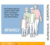 man about contemporary family... | Shutterstock .eps vector #518909296
