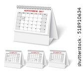 realistic desktop calendar with ... | Shutterstock .eps vector #518910634
