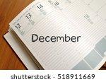 december text concept write on... | Shutterstock . vector #518911669