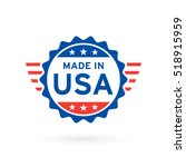 made in usa icon concept badge... | Shutterstock .eps vector #518915959