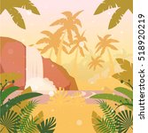 vector image of the jungle flat ... | Shutterstock .eps vector #518920219