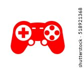 game console controller icon in ... | Shutterstock .eps vector #518921368