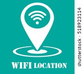 wifi location icon | Shutterstock .eps vector #518923114