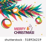 merry christmas card vector... | Shutterstock .eps vector #518926219
