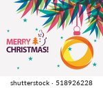 merry christmas card vector... | Shutterstock .eps vector #518926228