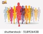 running people set of... | Shutterstock .eps vector #518926438