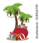 christmas in a warm climate... | Shutterstock .eps vector #518926759
