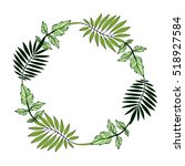 wreath with leaves. tribal... | Shutterstock .eps vector #518927584