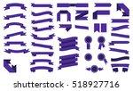 set of beautiful festive... | Shutterstock . vector #518927716