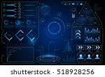 abstract hud ui interface gui... | Shutterstock .eps vector #518928256