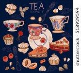 tea collection vector... | Shutterstock .eps vector #518929594