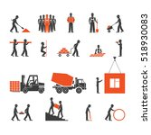 construction industry icons | Shutterstock . vector #518930083