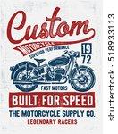 custom motorcycle typography  t ...   Shutterstock .eps vector #518933113