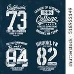 college athletics typography... | Shutterstock .eps vector #518933149