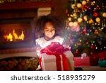 happiness little girl... | Shutterstock . vector #518935279