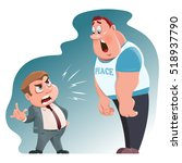 angry boss swears. cartoon... | Shutterstock .eps vector #518937790