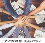 top view of beautiful business... | Shutterstock . vector #518939410