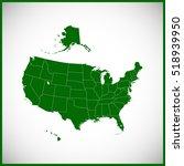 usa state of map   rhode island  | Shutterstock .eps vector #518939950