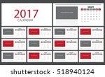 2017 calendar planner design....   Shutterstock .eps vector #518940124