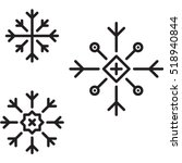 snowflakes icon | Shutterstock .eps vector #518940844