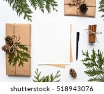 vintage gift boxes in craft... | Shutterstock . vector #518943076