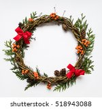 Festive Wreath Of Grape Vines...