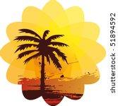 tropical sun splash | Shutterstock .eps vector #51894592