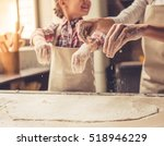 cute little girl and her... | Shutterstock . vector #518946229