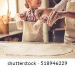 cute little girl and her... | Shutterstock . vector #518946229