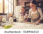cute little girl and her... | Shutterstock . vector #518946313