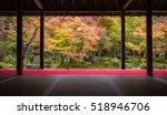 Autumn View Of Japanese Garden...