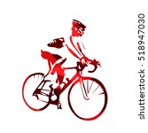 road cyclist  abstract red... | Shutterstock .eps vector #518947030