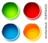 bright and glossy circle shape  ... | Shutterstock .eps vector #518956423