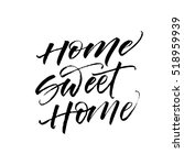 home sweet home postcard. hand... | Shutterstock .eps vector #518959939