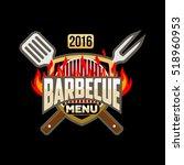 barbecue menu logo emblem...   Shutterstock .eps vector #518960953