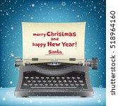 The Typewriter On Blue Snow...