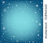 winter blue background with... | Shutterstock .eps vector #518964163