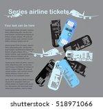 series airline tickets | Shutterstock .eps vector #518971066