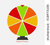 wheel of fortune  lucky icon.... | Shutterstock .eps vector #518973100