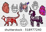 fashion patch badges. set of... | Shutterstock .eps vector #518977240