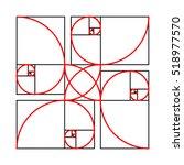 golden section formes pattern...   Shutterstock . vector #518977570