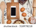 kitchen table with ingredients  ... | Shutterstock . vector #518978218