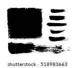 brush strokes. ink painting.... | Shutterstock .eps vector #518983663