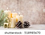 christmas decoration on the... | Shutterstock . vector #518985670